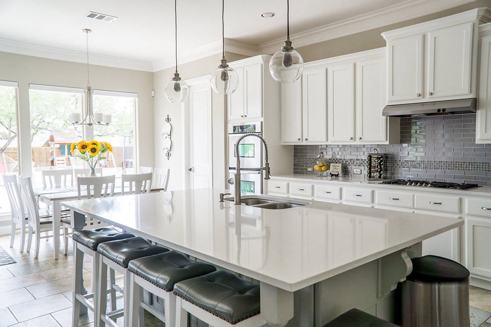beautiful white kitchen remodeling in Wayne, PA